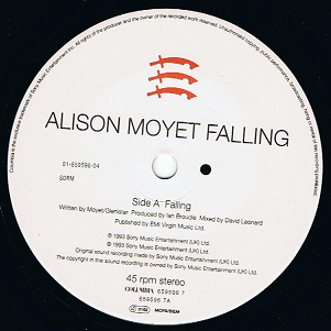 "ALISON MOYET Falling 7"" Single Vinyl Record 45rpm Columbia 1993"