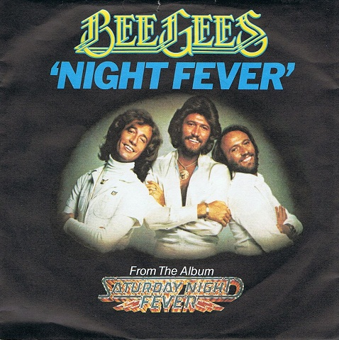 "BEE GEES Night Fever 7"" Single Vinyl Record 45rpm RSO 1977"