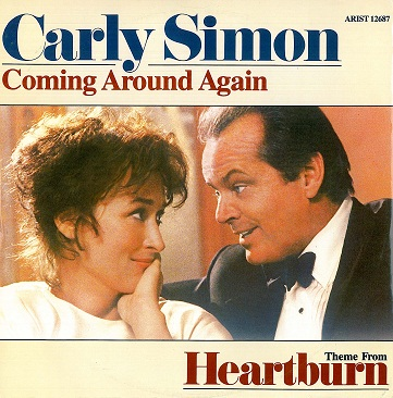 "CARLY SIMON Coming Around Again 12"" Single Vinyl Record Arista 1986"