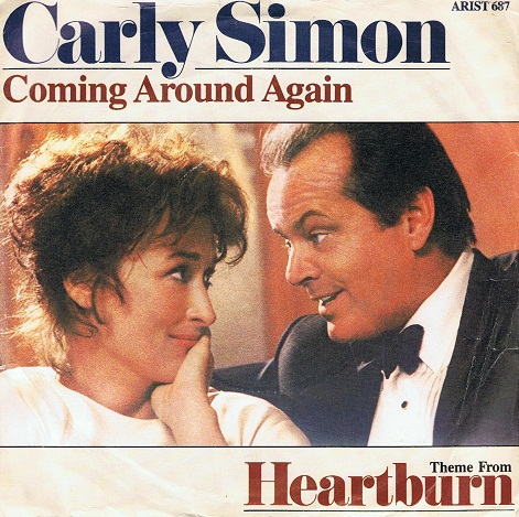 "CARLY SIMON Coming Around Again 7"" Single Vinyl Record 45rpm Arista 1986"