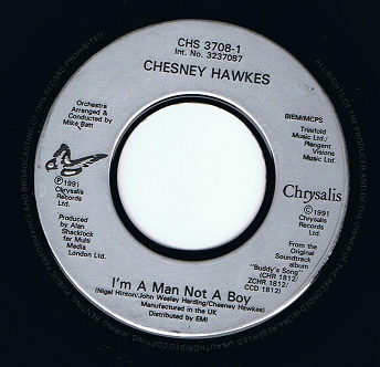 "CHESNEY HAWKES I'm A Man Not A Boy 7"" Single Vinyl Record 45rpm Chrysalis 1991"