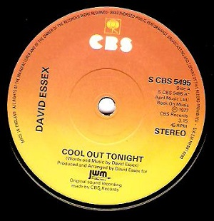 DAVID ESSEX Cool Out Tonight Vinyl Record 7 Inch CBS 1977
