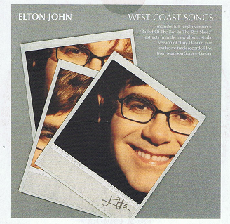 ELTON JOHN West Coast Songs CD Single Promo Mercury 2001