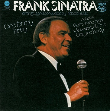 FRANK SINATRA One For My Baby LP Vinyl Record Album 33rpm Capitol 1975