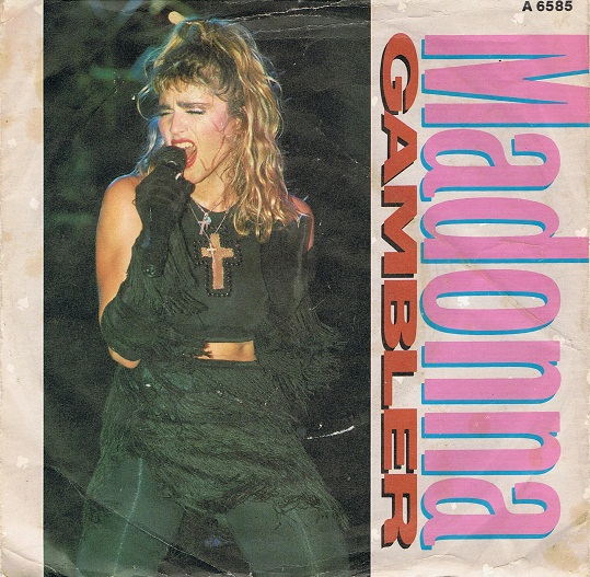 Madonna Gambler 7 Single Vinyl Record 45rpm Geffen 1985