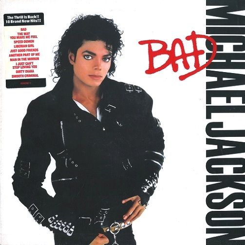 MICHAEL JACKSON Bad Vinyl Record LP Epic 1987