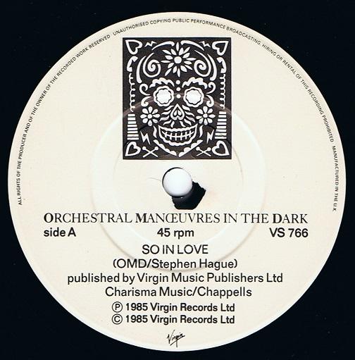 Orchestral Manoeuvres In The Dark Omd So In Love 7 Single