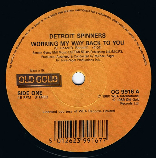 Working my way back to you babe the spinners