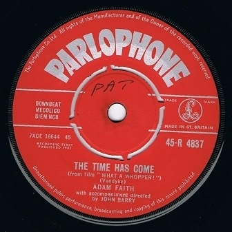 "ADAM FAITH The Time Has Come 7"" Single Vinyl Record 45rpm Parlophone 1961"