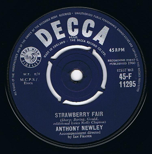 "ANTHONY NEWLEY Strawberry Fair 7"" Single Vinyl Record 45rpm Decca 1960"
