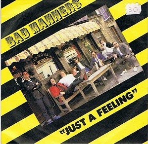 BAD MANNERS Just A Feeling Vinyl Record 7 Inch Magnet 1980