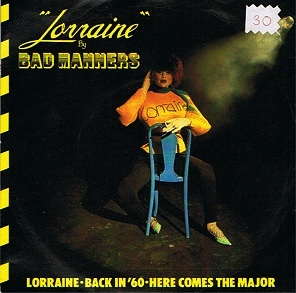 BAD MANNERS Lorraine Vinyl Record 7 Inch Magnet 1980