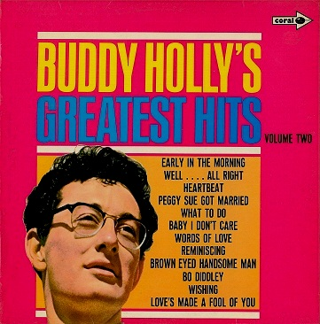 BUDDY HOLLY Buddy Holly's Greatest Hits Volume 2 LP Vinyl Record Album 33rpm Coral 1970.