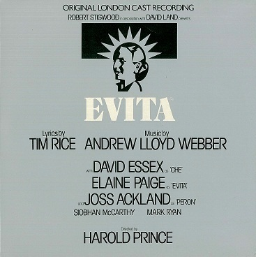 Evita - Original London Cast LP Vinyl Record Album 33rpm MCA 1978.