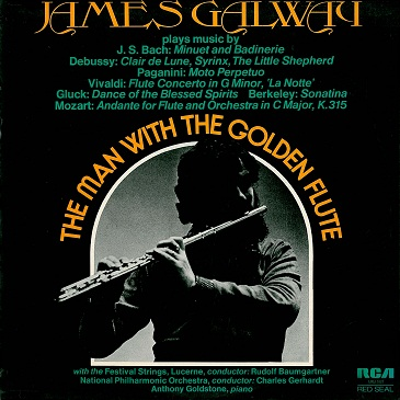 JAMES GALWAY The Man With The Golden Flute LP Vinyl Record Album 33rpm RCA Red Seal 1976