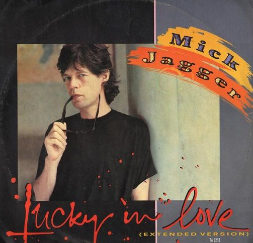 mick jagger lucky in love extended version vinyl record 12 inch cbs 1985. Black Bedroom Furniture Sets. Home Design Ideas