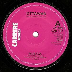 Ottawan D.I.S.C.O. Vinyl Record 7 Inch Carrere CAR 161