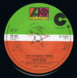 "SISTER SLEDGE He's The Greatest Dancer 7"" Single Vinyl Record 45rpm Atlantic 1979."