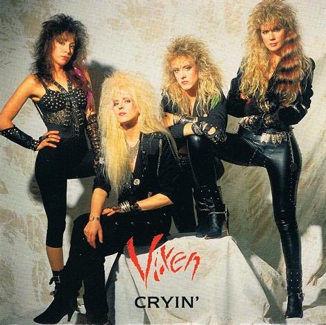Vixen Cryin 7 Single Vinyl Record 45rpm Emi Manhattan 1988