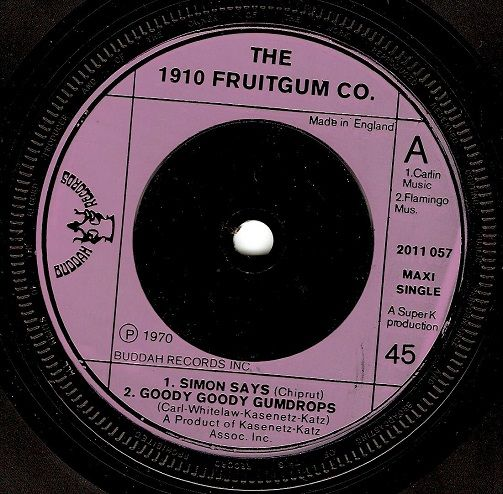 1910 Fruitgum Company Simon Says Vinyl Record 7 Inch