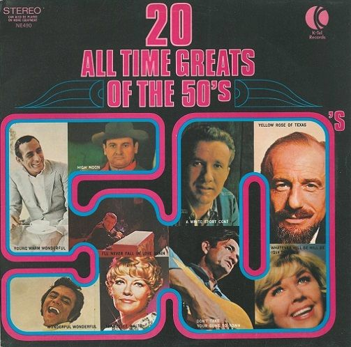 20 All Time Greats Of The 50's Vinyl Record LP K-Tel 1972