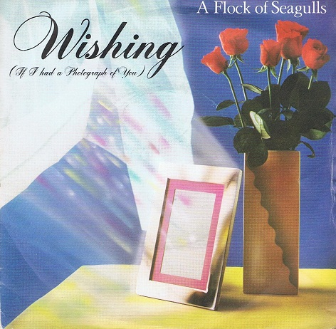 "A FLOCK OF SEAGULLS Wishing (If I Had A Photograph Of You) 7"" Single Vinyl Record 45rpm Jive 1982"