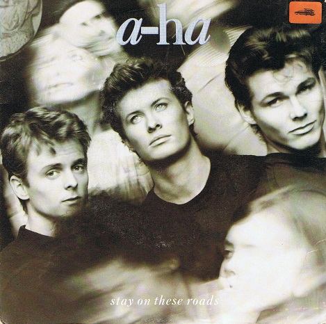 "A-HA Stay On These Roads 7"" Single Vinyl Record 45rpm Warner Bros. 1988"