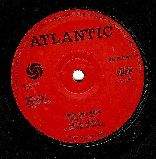 ARTHUR CONLEY Sweet Soul Music Vinyl Record 7 Inch Atlantic 1967