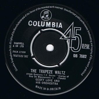 "GEOFF LOVE The Trapeze Waltz 7"" Single Vinyl Record 45rpm Columbia 1963"
