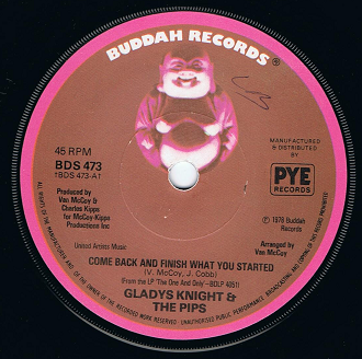 "GLADYS KNIGHT & THE PIPS Come Back And Finish What You Started 7"" Single Vinyl Record Buddah 1978"