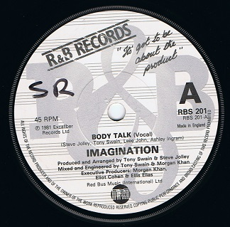 Imagination Body Talk 7 Single Vinyl Record 45rpm R Amp B 1981