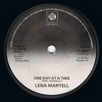 "LENA MARTELL One Day At A Time 7"" Single Vinyl Record 45rpm Pye 1977"