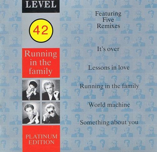 Level 42 Running In The Family Platinum Edition Cd Album