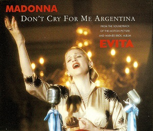 MADONNA Don't Cry For Me Argentina CD Single Warner Bros. 1996