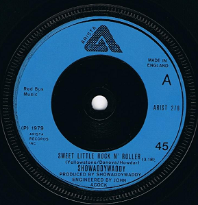 SHOWADDYWADDY Sweet Little Rock N' Roller Vinyl Record 7 Inch Arista 1979