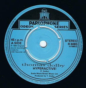 Thomas Dolby Hyperactive 7 Single Vinyl Record 45rpm