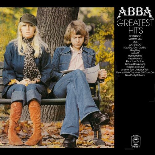 ABBA Greatest Hits Vinyl Record LP Epic 1976