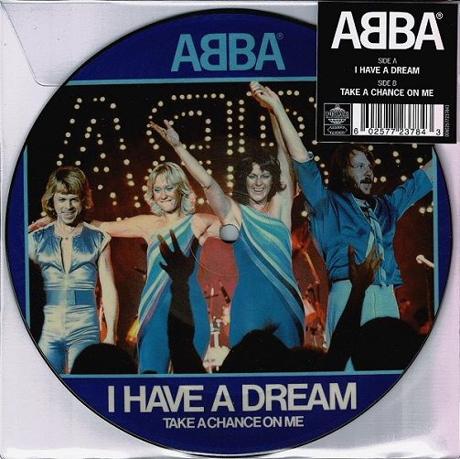 ABBA I Have A Dream Vinyl Record 7 Inch Polar 2019 Picture Disc
