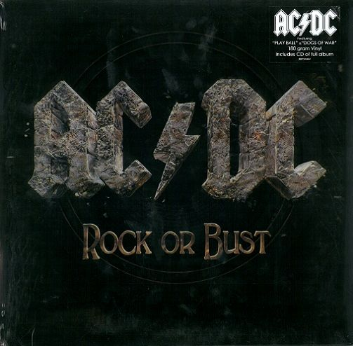 AC/DC Rock Or Bust Vinyl Record LP Columbia 2014