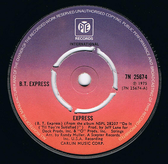 "B.T. EXPRESS Express 7"" Single Vinyl Record 45rpm Pye 1975"