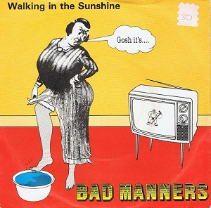 BAD MANNERS Walking In The Sunshine Vinyl Record 7 Inch Magnet 1981