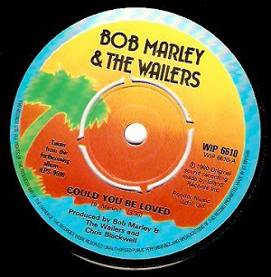 BOB MARLEY AND THE WAILERS Could You Be Loved Vinyl Record 7 Inch Island 1980