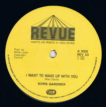 "BORIS GARDINER I Want To Wake Up With You 12"" Single Vinyl Record Revue 1986"