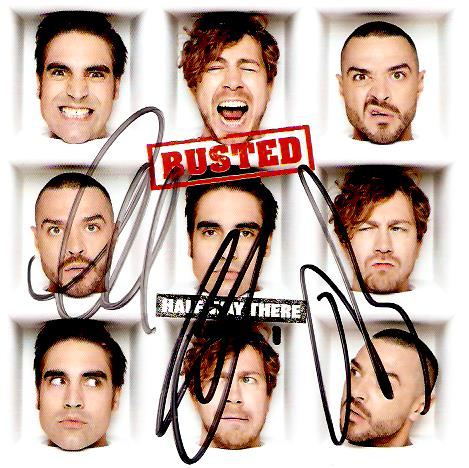BUSTED Half Way There CD Album East West 2019 Signed