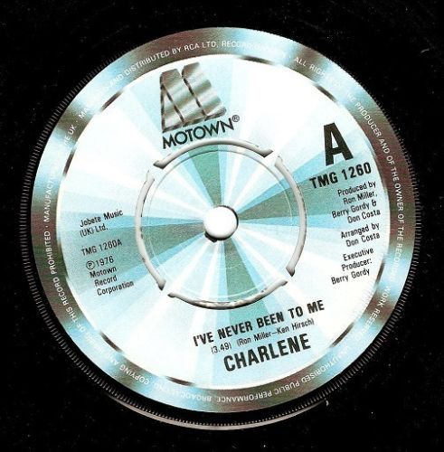 CHARLENE I've Never Been To Me Vinyl Record 7 Inch Motown 1982