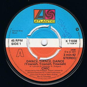 "CHIC Dance, Dance, Dance (Yowsah, Yowsah, Yowsah) 7"" Single Vinyl Record 45rpm Atlantic 1977"
