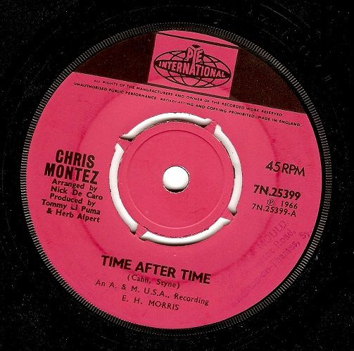 CHRIS MONTEZ Time After Time Vinyl Record 7 Inch Pye 1966