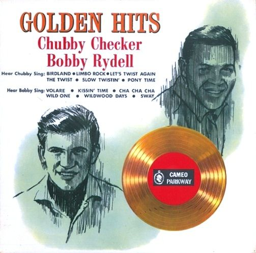 CHUBBY CHECKER AND BOBBY RYDELL Golden Hits Vinyl Record LP Cameo Parkway 1963