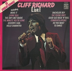 Cliff Richard Live Vinyl Record LP MFP 50307