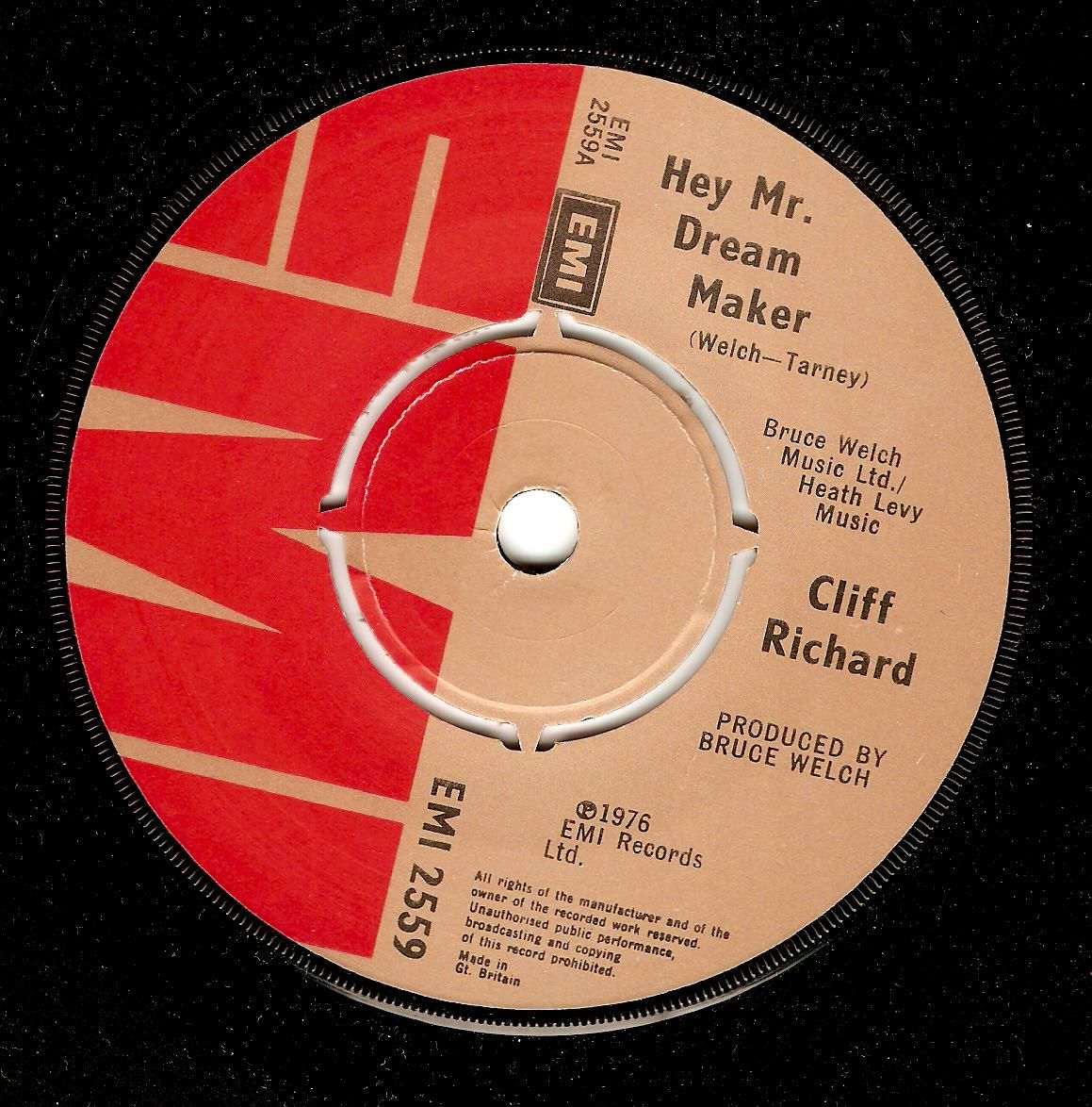 Cliff Richard Hey Mr Dream Maker Vinyl Record 7 Inch Emi 1979